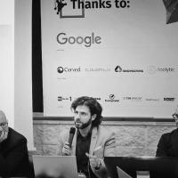Aldo Pecora moderatore alla European Code Week (Roma)