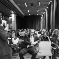 Aldo Pecora speaker a un evento Ninja Marketing (Milano)