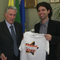 Aldo Pecora e il sindaco di Catanzaro Rosario Olivo