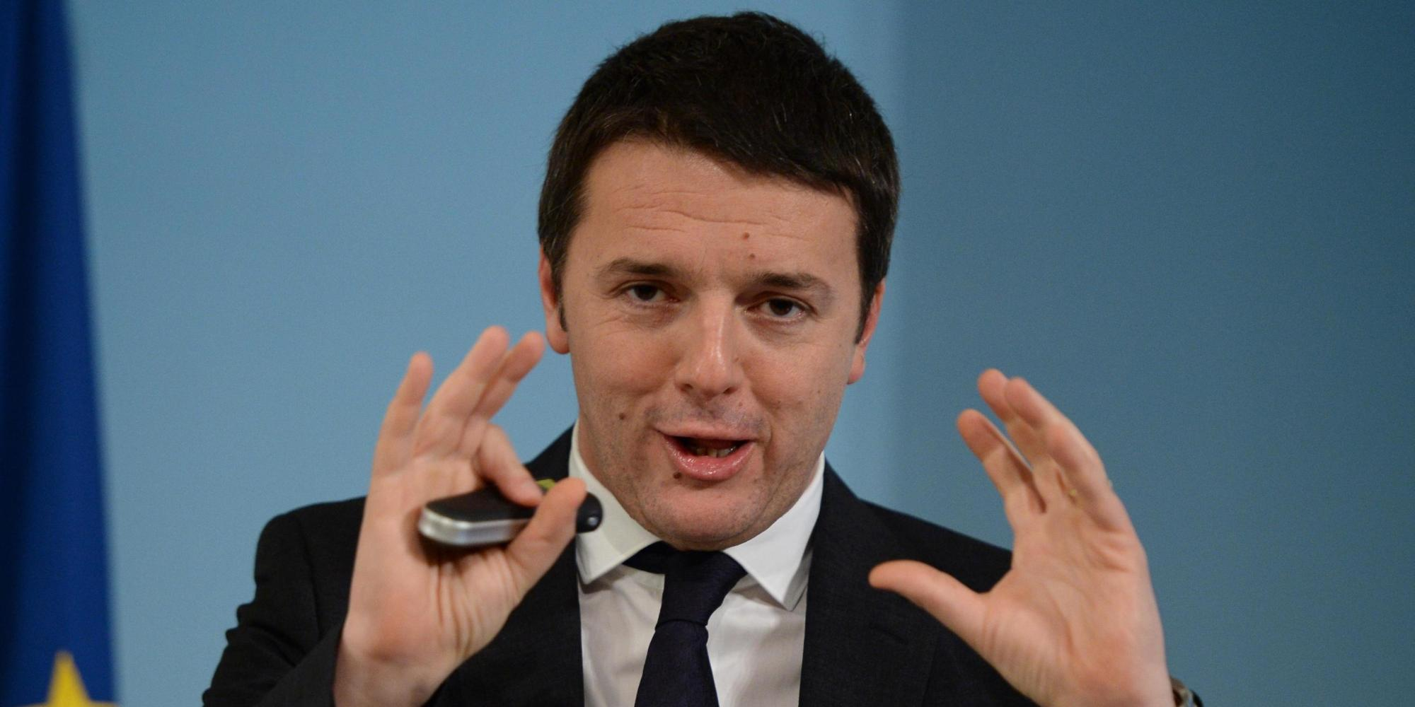 Italian premier Matteo Renzi presents tax cuts