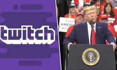 Twitch banna Donald Trump
