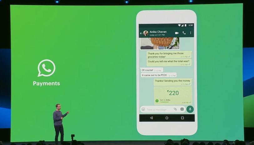 Mark Zuckerberg presenta il servizio di pagamenti con WhatsAppp